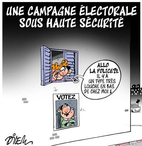 Une campagne électorale sous haute sécurité