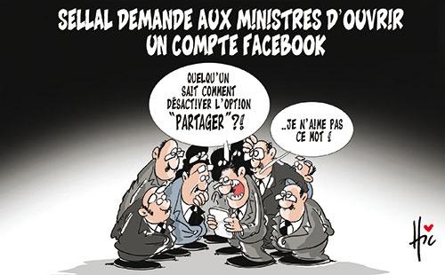Sellal demande aux ministres d'ouvrir un compte facebook