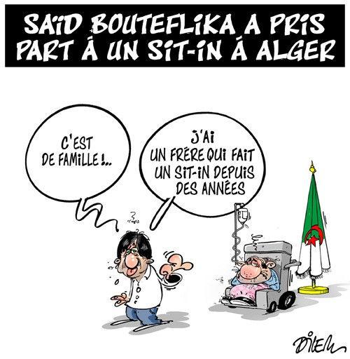 Saïd Bouteflika a pris par à un sit-in à Alger