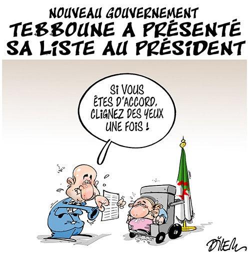 Nouveau gouvernement: Tebboune a présenté sa liste au président