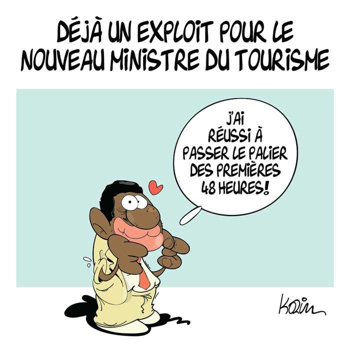 Déjà un exploit pour le nouveau ministre du tourisme