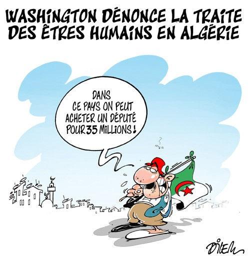 Washington dénonce la traite des êtres humains en Algérie