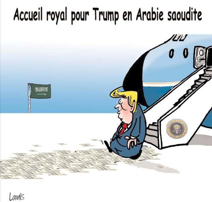 Accueil royal pour Trump en Arabie Saoudite