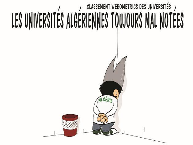 Classement webometrics des universités: Les universités algériennes toujours mal notées