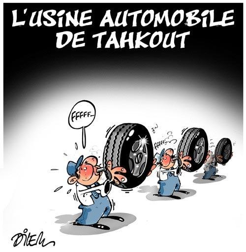 L'usine automobile de Tahkout