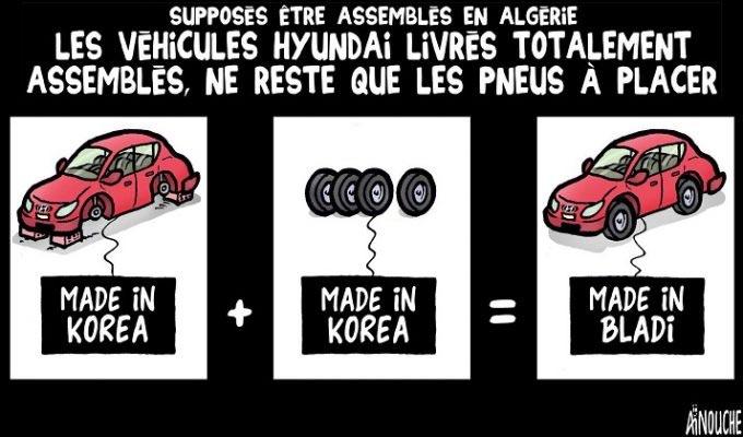 Supposés être assemblés en Algérie: Les véhicules Hyundai livrés totalement assemblés