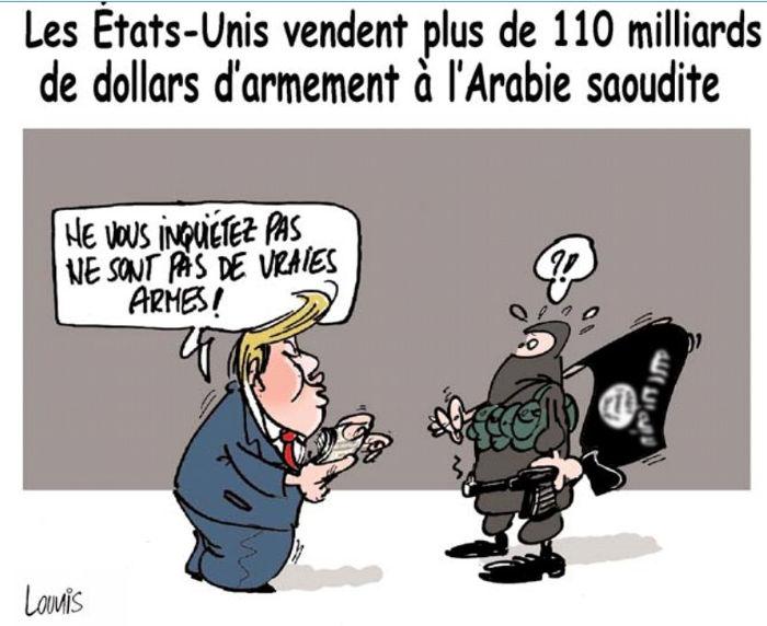 Les Etats-Unis vendent plus de110 milliards de dollars d'armement à l'Arabie Saoudite