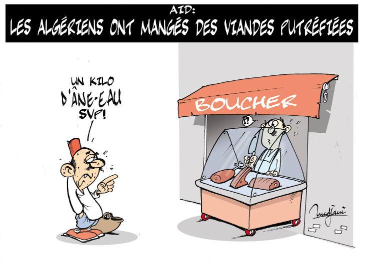 Aïd: Les Algériens ont mangés des viandes putréfiées
