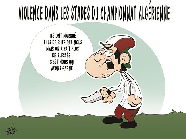 Violence dans les stades du championnat algérien