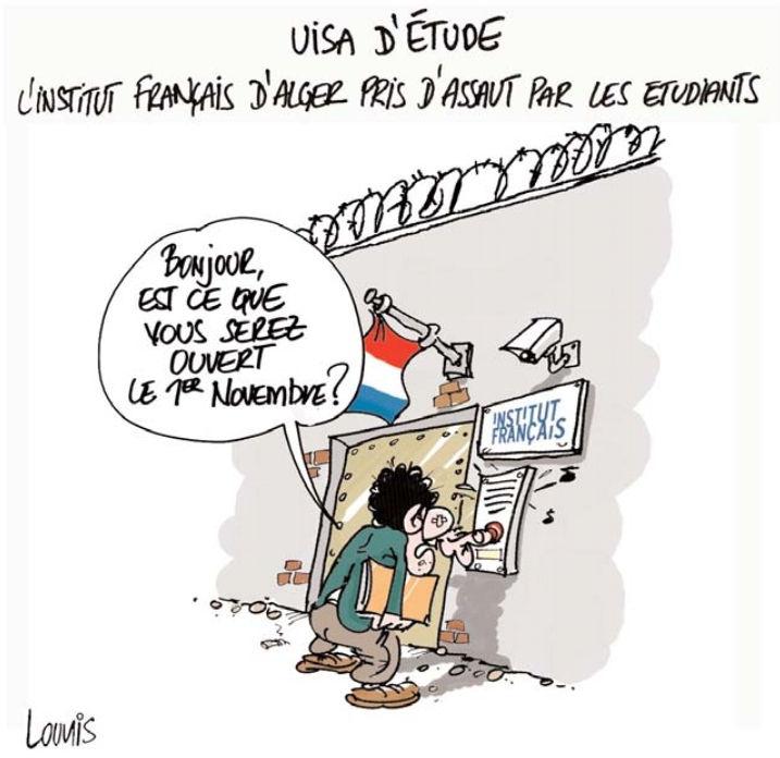Visa d'étude: L'institut français d'Alger pris d'assaut par les étudiants