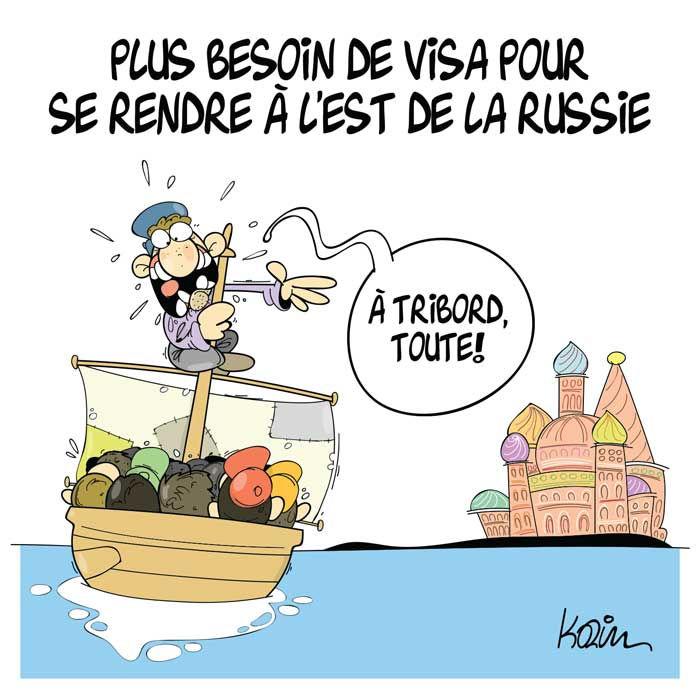 Plus besion de visa pour se rendre à l'est de la Russie
