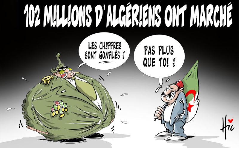 102 millions d'algériens ont marché - marché - Gagdz.com