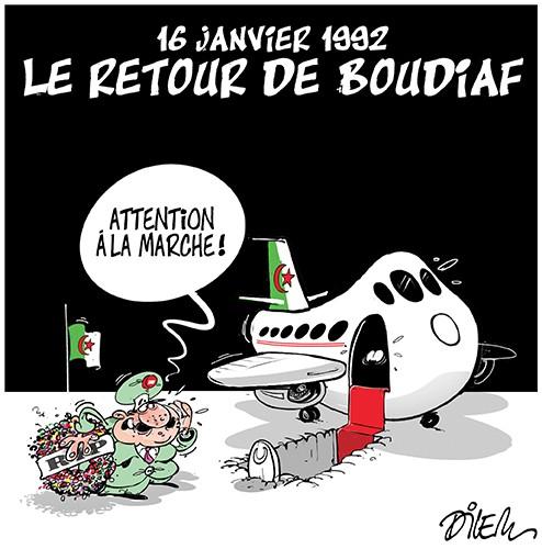 16 janvier 1992, le retour de Boudiaf - Dilem - Liberté - Gagdz.com