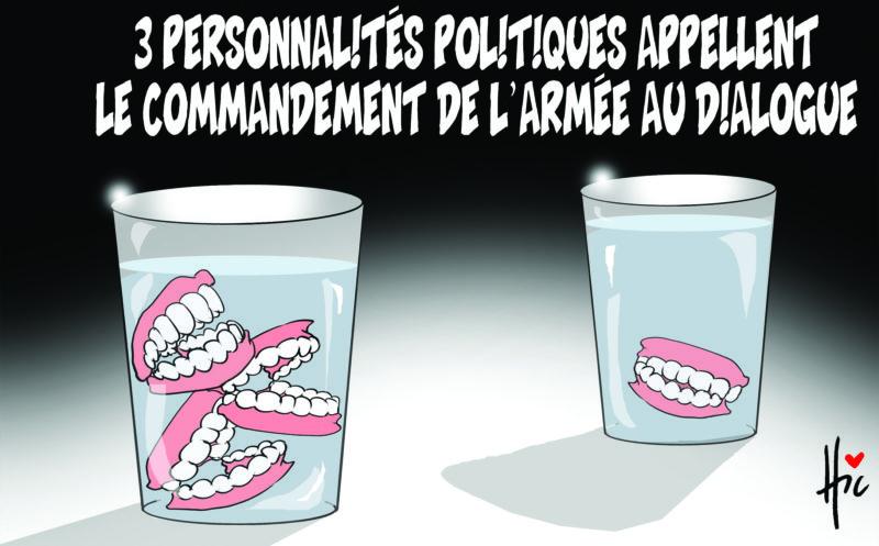 3 personnalités politiques appellent le commandement de l'armée au dialogue - Dessins et Caricatures, Le Hic - El Watan - Gagdz.com