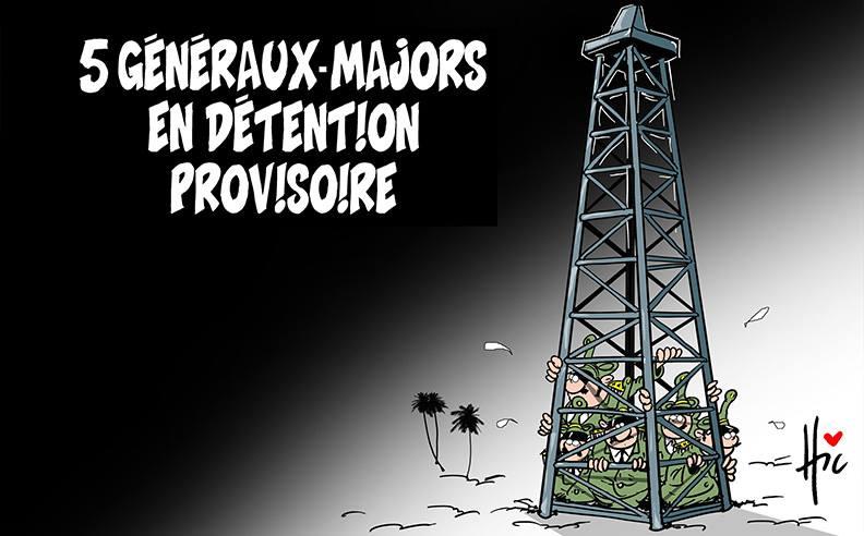 5 généraux-majors en détention provisoire - Dessins et Caricatures, Le Hic - El Watan - Gagdz.com