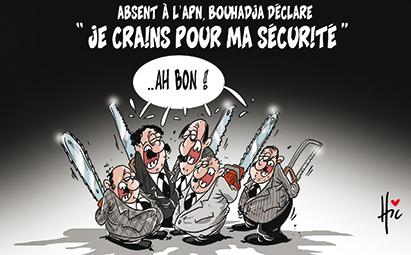 """Absent à l'APN Bouhadja déclare """"Je crains pour ma sécurité"""" - Dessins et Caricatures, Le Hic - El Watan - Gagdz.com"""