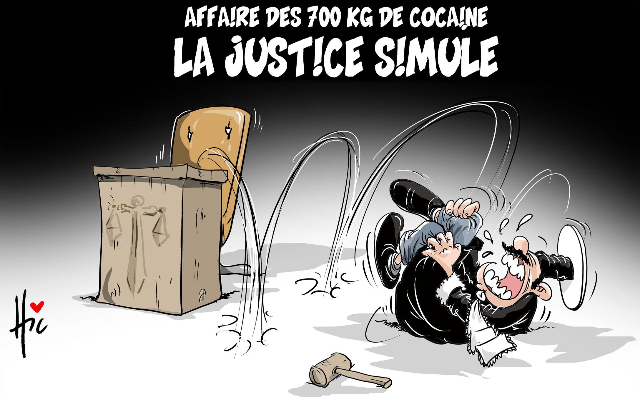 Affaire des 700 kg de cocaïne : La justice simule - Dessins et Caricatures, Le Hic - El Watan - Gagdz.com