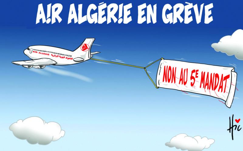 Air Algérie en grève - 5e mandat de Bouteflika - Gagdz.com