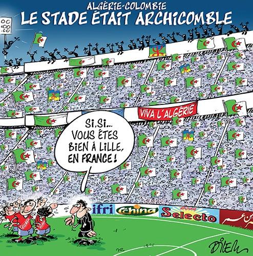 Algérie Colombie : Le stade était archicomble - France - Gagdz.com