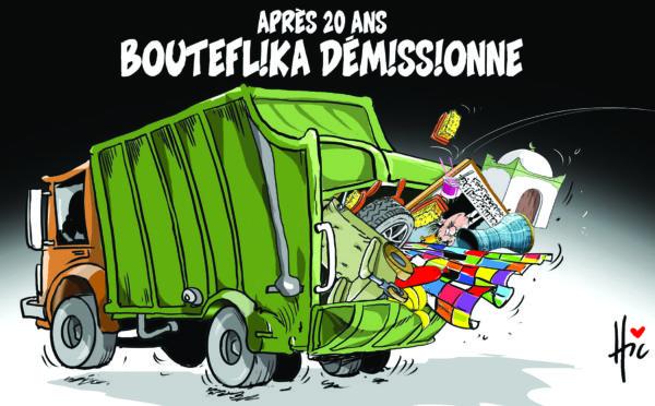 Après 20 ans : Bouteflika démissionne - Dessins et Caricatures, Le Hic - El Watan - Gagdz.com
