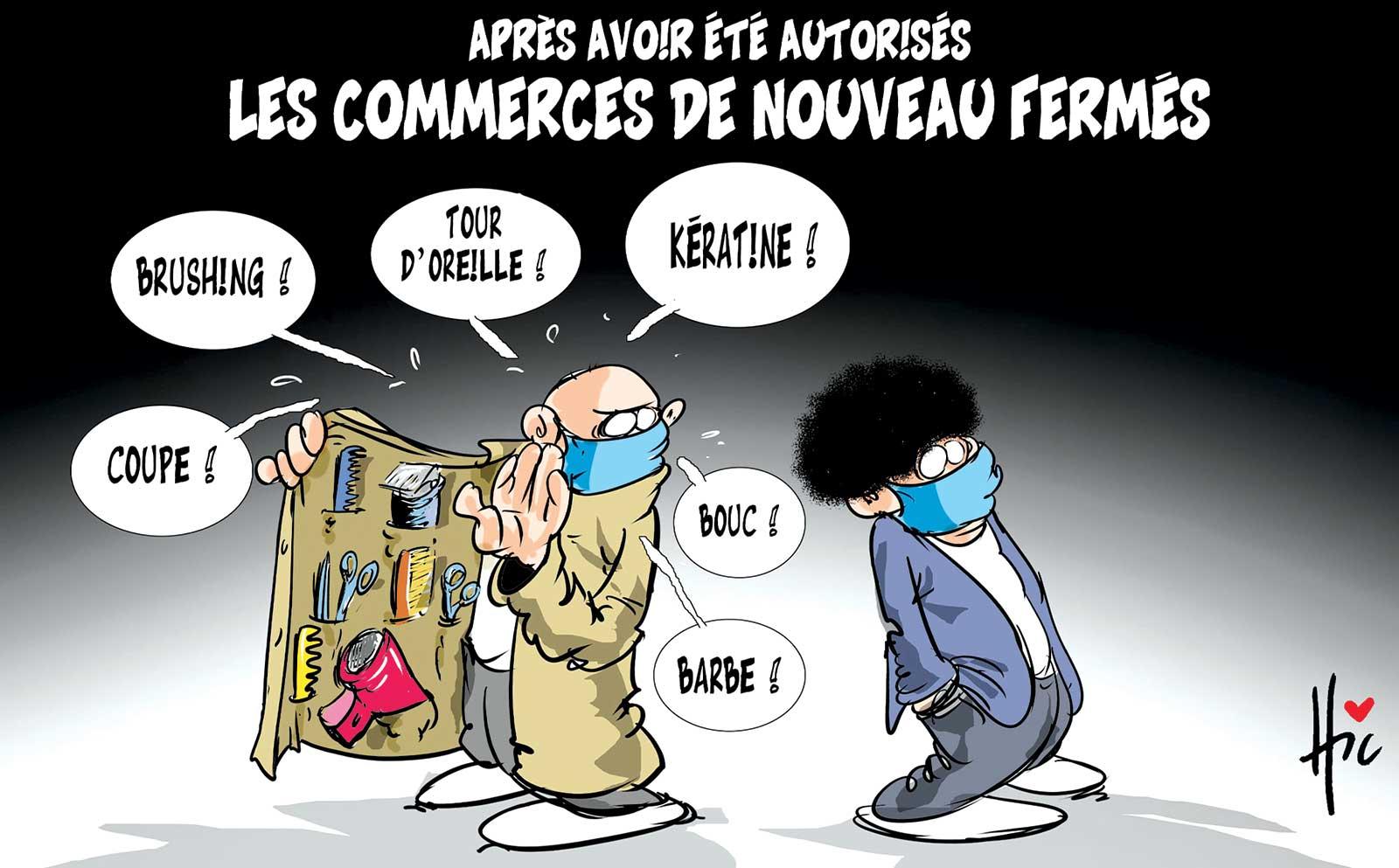Après avoir été autorisés les commerces de nouveau fermés - Dessins et Caricatures, Le Hic - El Watan - Gagdz.com