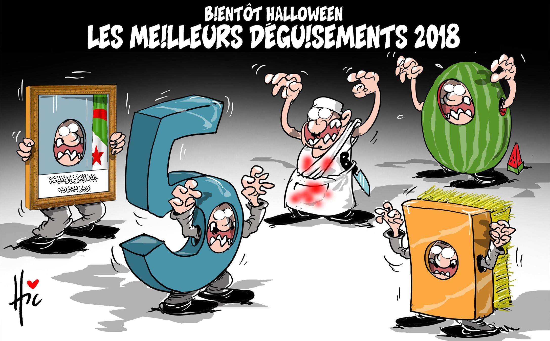 Bientôt Halloween : Les meilleurs déguisement en 2018 en Algérie - Dessins et Caricatures, Le Hic - El Watan - Gagdz.com