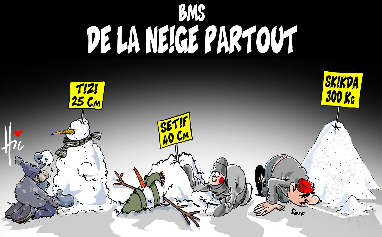 Bulletin météorologique spécial : De la neige partout - Dessins et Caricatures, Le Hic - El Watan - Gagdz.com