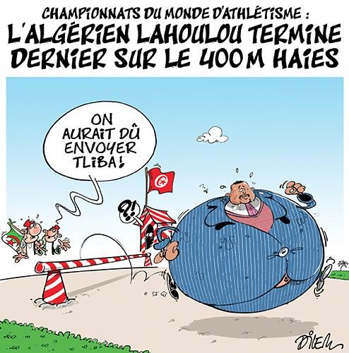 Championnats du monde d'athlétisme : l'algérien Lahoulou termine dernier sur le 400m haies - Dilem - Liberté - Gagdz.com