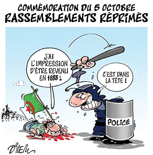 Commémoration du 5 octobre : rassemblements réprimés - Dilem - Liberté - Gagdz.com