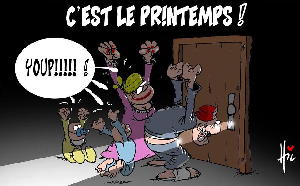 Confinement : C'est le printemps - Dessins et Caricatures, Le Hic - El Watan - Gagdz.com
