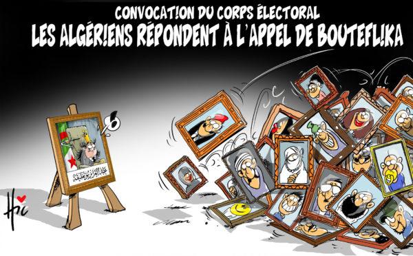 Convocation du corps électoral : Les algériens répondent à l'appel de Bouteflika - Dessins et Caricatures, Le Hic - El Watan - Gagdz.com