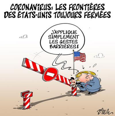Coronavirus : Les frontières des Etats-unis toujours fermées - Dilem - TV5 - Gagdz.com