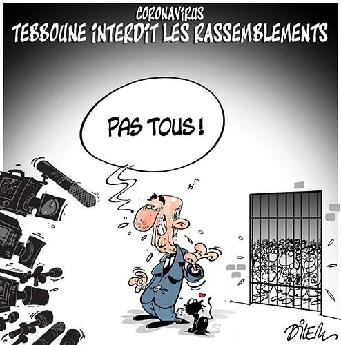 Coronavirus : Teboune interdit les rassemblements - prison - Gagdz.com