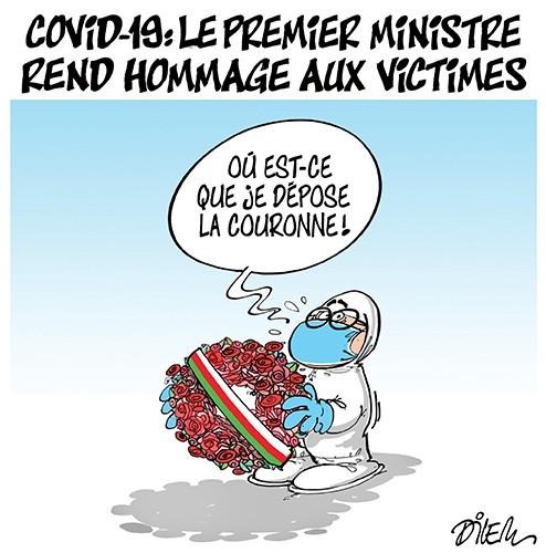 Covid 19 : Le premier ministre rend hommage aux victimes - Dilem - Liberté - Gagdz.com