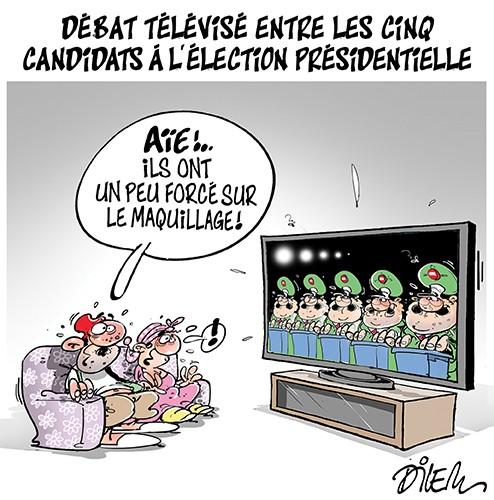 Débat télévisé entre les cinq candidats à l'élection présidentielle - Dilem - Liberté - Gagdz.com