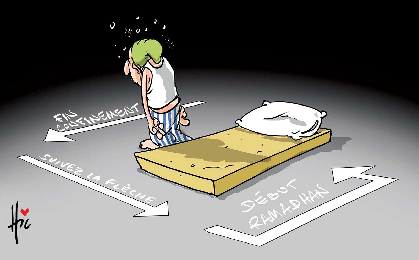 Début de ramadan 2020 en confinement - Dessins et Caricatures, Le Hic - El Watan - Gagdz.com