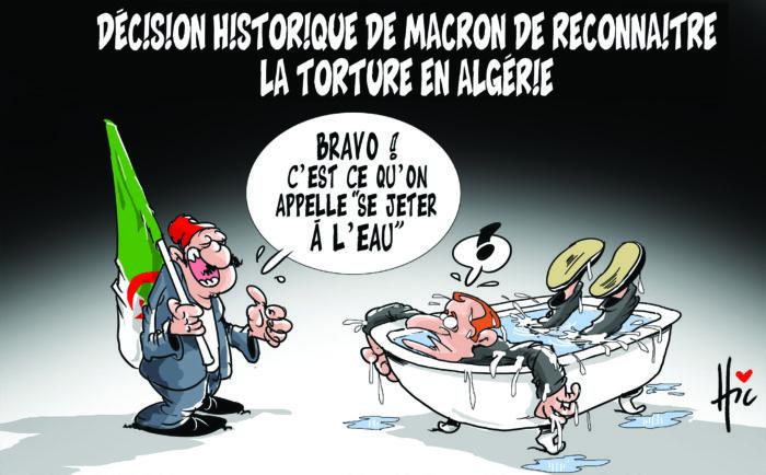 Décision historique de macron de reconnaître la torture en Algérie - Dessins et Caricatures, Le Hic - El Watan - Gagdz.com
