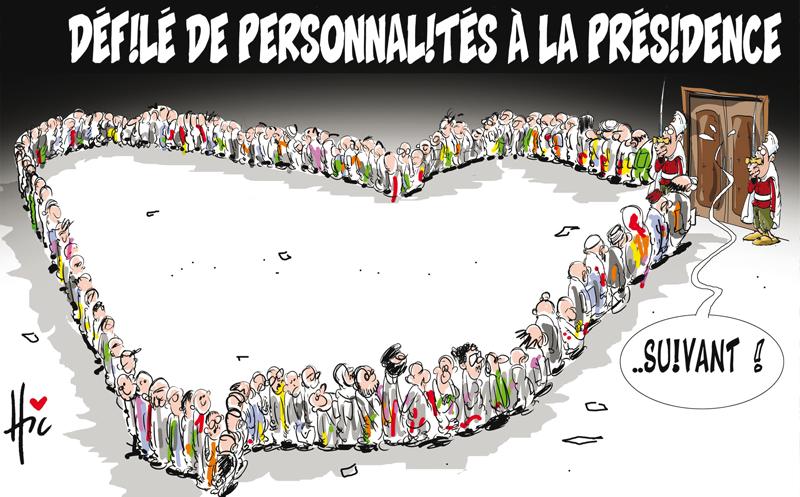 Défilé de personnalités à la présidence - Dessins et Caricatures, Le Hic - El Watan - Gagdz.com
