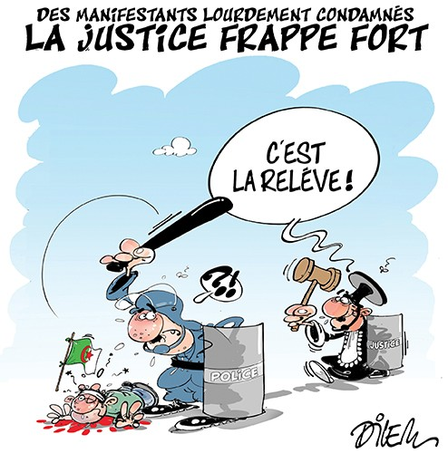 Des manifestants lourdement condamnés. La justice frappe fort - Dilem - Liberté - Gagdz.com
