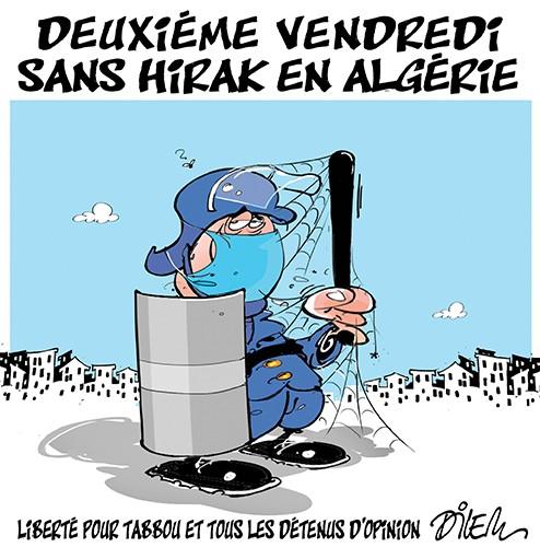 Deuxième vendredi sans hirak en Algérie - Dilem - Liberté - Gagdz.com