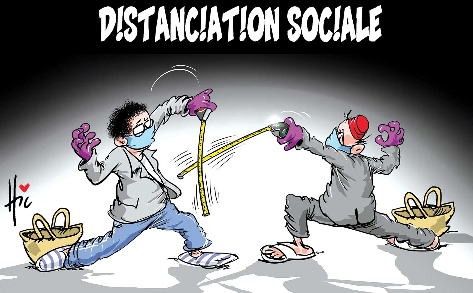 Distanciation sociale - Dessins et Caricatures, Le Hic - El Watan - Gagdz.com