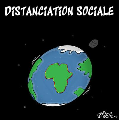 Distanciation sociale en Afrique - Dilem - TV5 - Gagdz.com