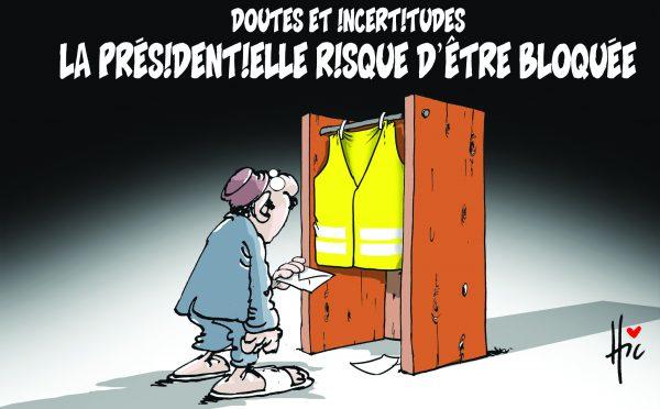 Doutes et incertitudes. La présidentielle risque d'être bloquée - Dessins et Caricatures, Le Hic - El Watan - Gagdz.com