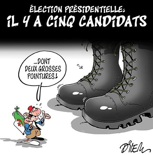 Election présidentielle en Algérie : Il y a cinq candidats - Armée - Gagdz.com