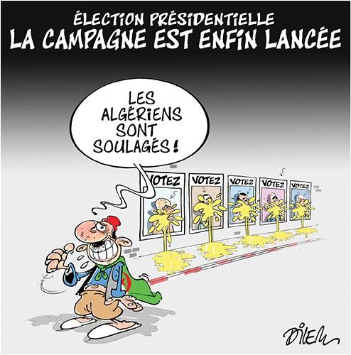 Election présidentielle en Algérie : La campagne est enfin lancée - Dilem - Liberté - Gagdz.com