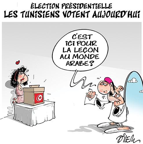 Election présidentielle. Les tunisiens votent aujourrd'hui - Dilem - Liberté - Gagdz.com