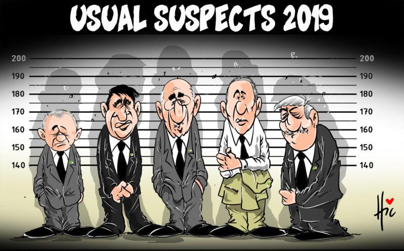 Elections Présidentielle algérienne 2019 : Usual suspects 2019 - Dessins et Caricatures, Le Hic - El Watan - Gagdz.com