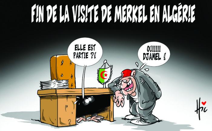 Fin de la visite de Merkel en Algérie - Dessins et Caricatures, Le Hic - El Watan - Gagdz.com