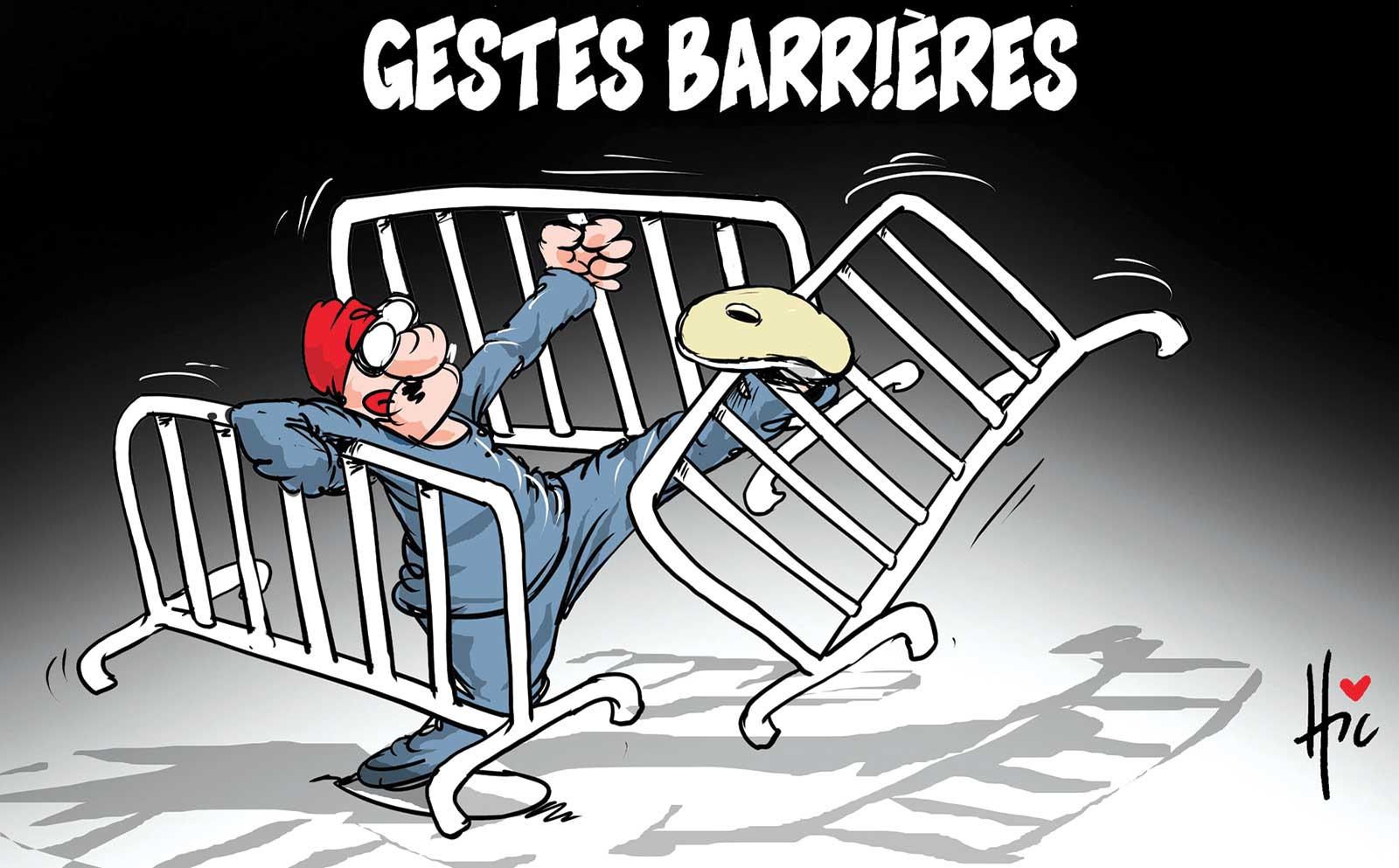 Gestes barrières - Dessins et Caricatures, Le Hic - El Watan - Gagdz.com