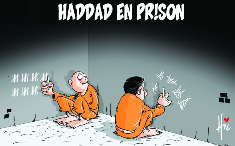 Haddad en prison - Dessins et Caricatures, Le Hic - El Watan - Gagdz.com